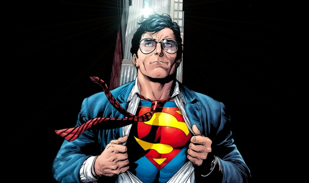 Clark Kent going Superman